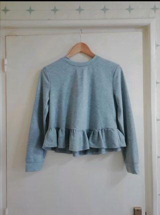 "Camiseta gris estilo ""Crop top"""