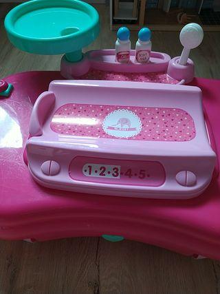 bañera y cambiador bebe juguete