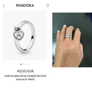Anillo corazón candado Pandora