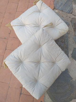 conjunto de 6 cojines para sillas en beige Ikea