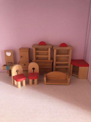 Muebles casita de madera