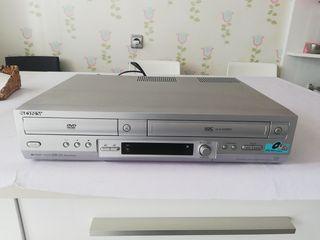 reproductor VHS y dvd marca sony