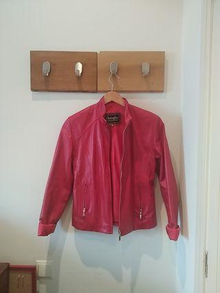 chaqueta cuero roja VALENTINO