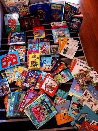 Lote de más de 50 libros (catalán y castellano)
