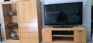 VENDO MUEBLE TV Y MUEBLE AUXILIAR 120€