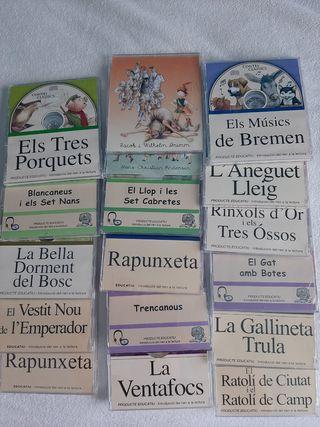 colección libros+cd tradicionales catalan