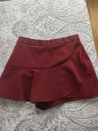 falda cuadros zara