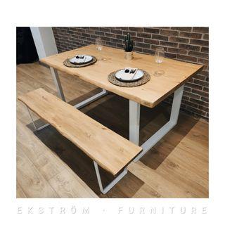 Mesa y banco estilo Nórdico