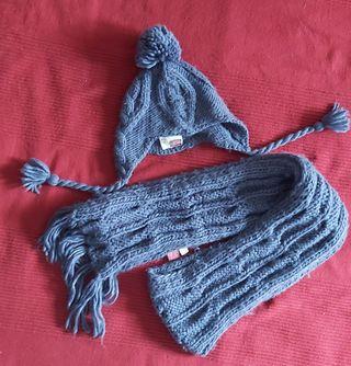 Conjunto gorro y bufanda talla 3 años