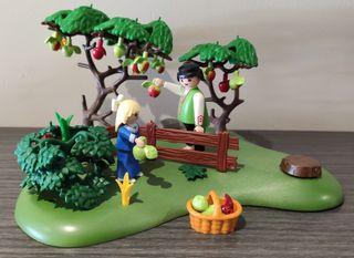 recolector de manzanas de playmobil