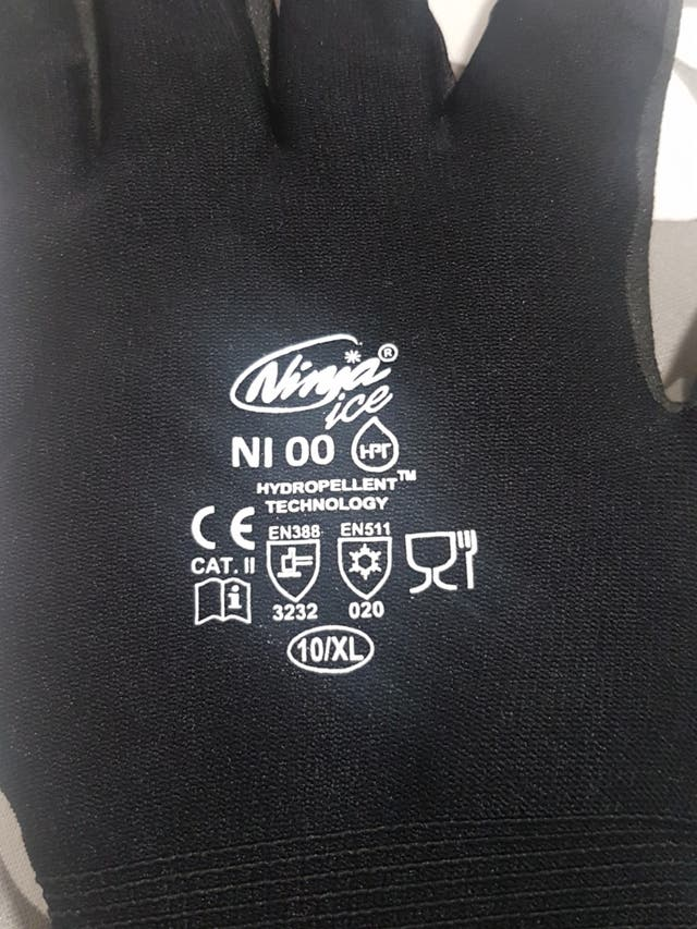 guantes de trabajo térmico, ninja ice, XL