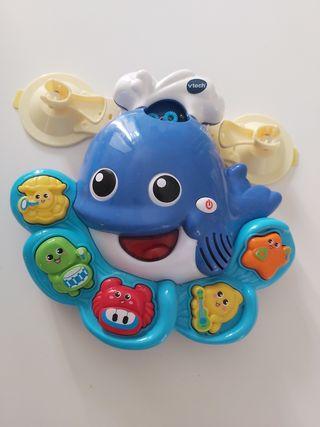 ballena burbujas y musica baño