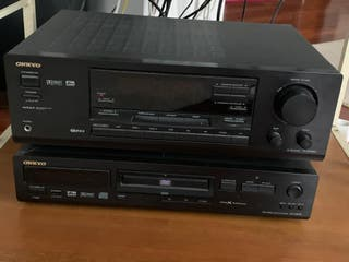 Amplificador + Home cinema con subbuffer + DVD