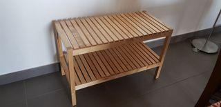 banqueta madera abedul