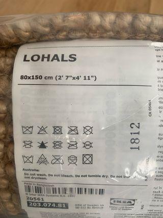 Alfombra de yute Lohals + protector antideslizante