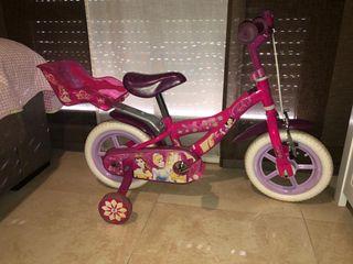 Bicicleta infantil princesas Disney 12 pulgadas
