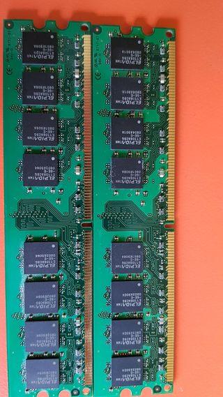 Memoria Kigston 4 GB PC 667 (2x 2 GBytes)