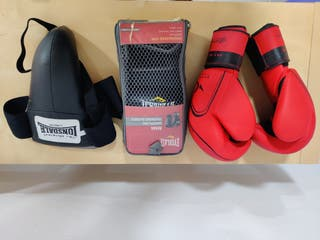 pack guantes boxeo + protector
