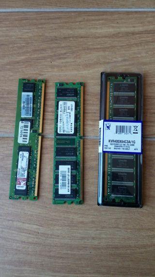 3 Memorias RAM de 1 GB