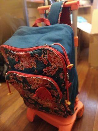 mochila niña Busquets con carro colegio