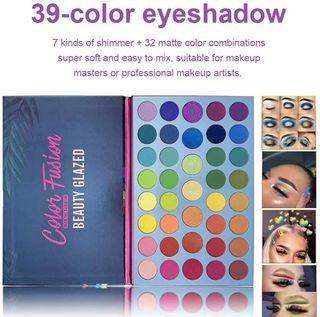 Paleta de polvo de sombra de ojos de 39 colores