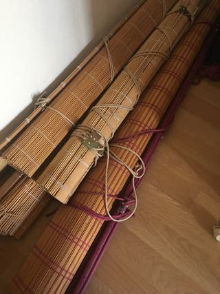 Estores de bambú natural