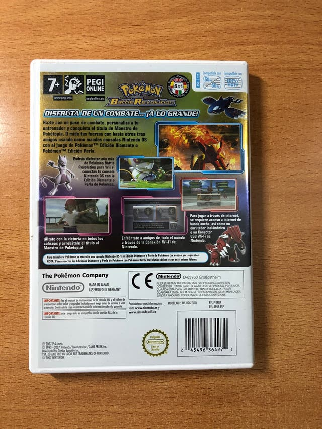 Juego Wii Pokemon Battle Revolution