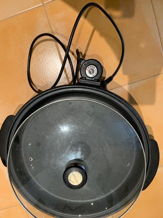 Pizza grill paellera sartén eléctrica