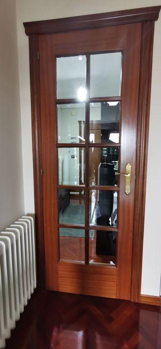 Puertas macizas interior color sapelly
