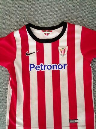 Camiseta y pantalon Athletic Club. talla 4 años