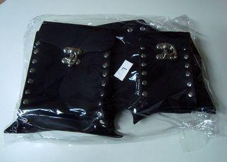 RESTYLE Cinturón Nu Goth con Bolsillos Piel Negro