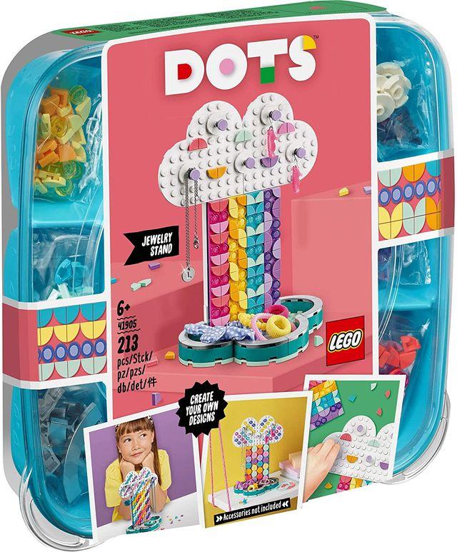 LEGO DOTS - Portajoyas Arcoíris, estuche creativo