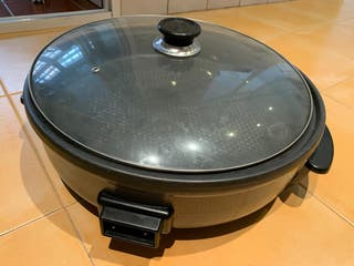 Pizza grill paellera eléctrica sartén electrica
