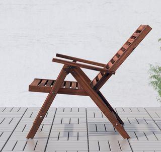 Silla de jardín / terraza de madera