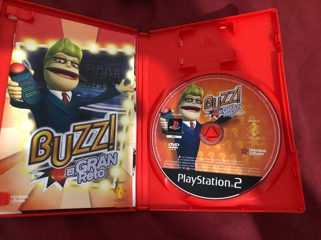 Juego BUZZ Play Station 2 (PS2) + Mandos
