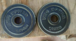 Pareja Discos Pesas 1'25Kgs(2'5kgs)/28mm Gimnasio