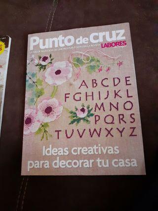 3 revistas de punto de cruz