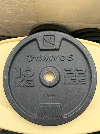 4 discos de 10 kg