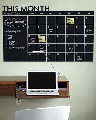 Vinilo pizarra agenda del mes