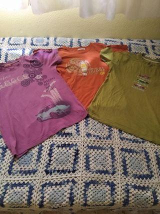 lote 3 camiseta manga corta niño