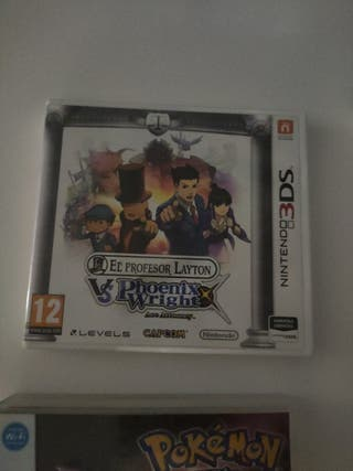 El profesor Layton vs Phoenix Wright 3ds