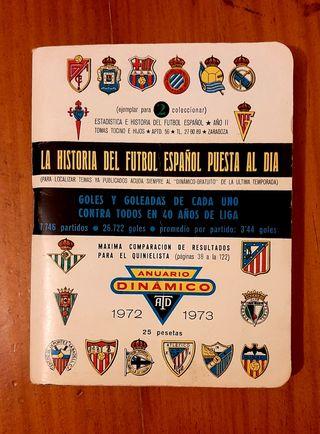 Anuario antiguo de futbol