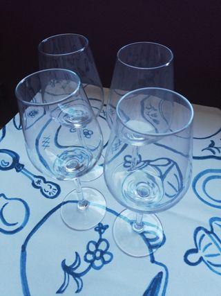 2 copas de cristal