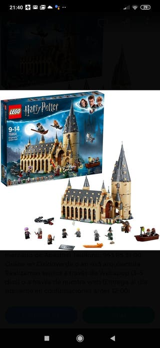 Comedor Hogwarts Lego Harry Potter