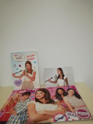 Libro Violeta + foto+puzzle