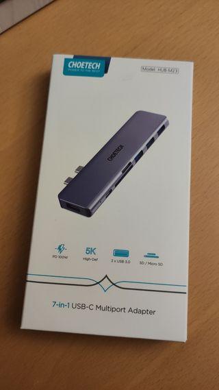 Hub USB C Macbook Pro, CHOETECH 7 en 2 Adaptador