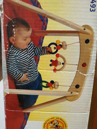 parque bebé de madera
