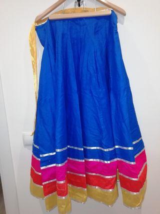 falda azul, bollywood