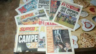 periódicos antiguos del Valencia c.f.