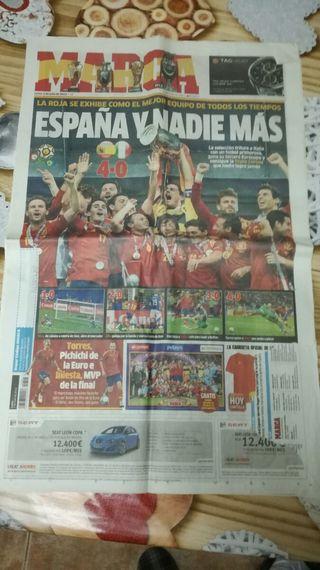 periódicos antiguos de la selección española